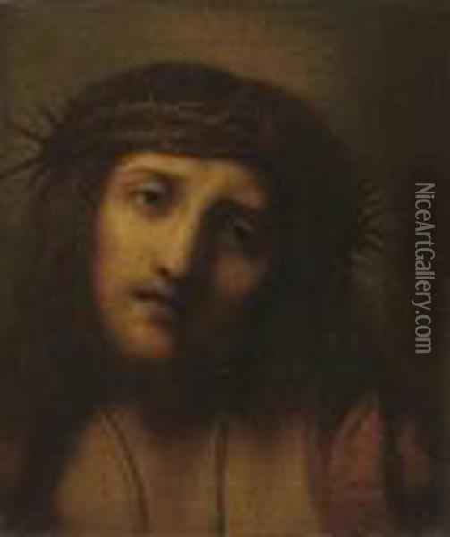 Christ Crowned With Thorns Oil Painting - Correggio, (Antonio Allegri)