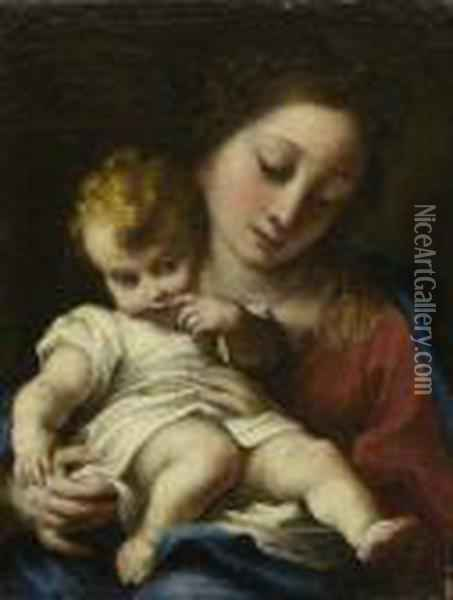 Maria Mit Dem Kind. Oil Painting - Correggio, (Antonio Allegri)