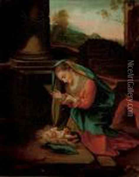 The Madonna And Child Oil Painting - Correggio, (Antonio Allegri)