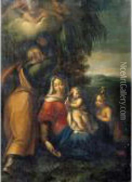 The Rest On The Flight Into Egypt Oil Painting - Correggio, (Antonio Allegri)