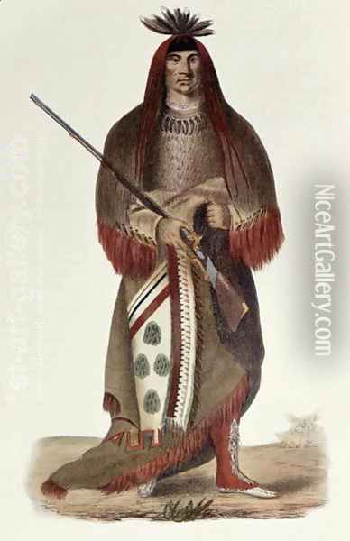 Wa Na Ta or The Charger Grand Chief of the Sioux or Dakota Indians Oil Painting - Charles Bird King