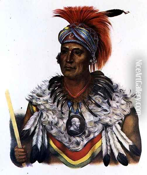 Wapella or the Prince Chief of the Foxes Oil Painting - Charles Bird King