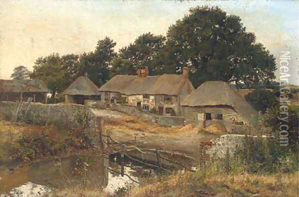 A quiet day on the farm Oil Painting - Henry John Yeend King