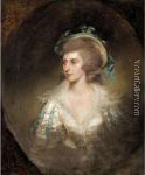Portrait Of A Lady Oil Painting - Richard Cosway