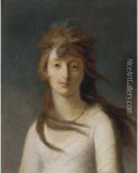 Portrait Of Lady Barbara Pleydell-bouverie Oil Painting - Richard Cosway