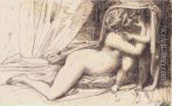 Venus And Cupid Oil Painting - Richard Cosway