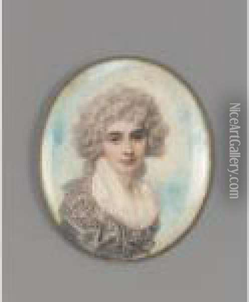 Lady Elizabeth Foster, Later Duchess Of Devonshire (1760-1824) Oil Painting - Richard Cosway