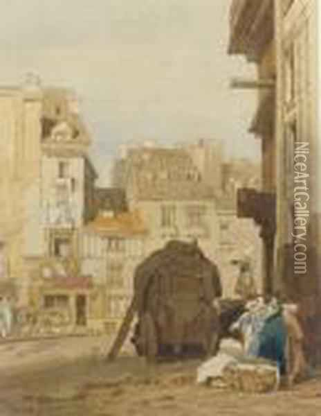 View Of Rouen Oil Painting - John Sell Cotman