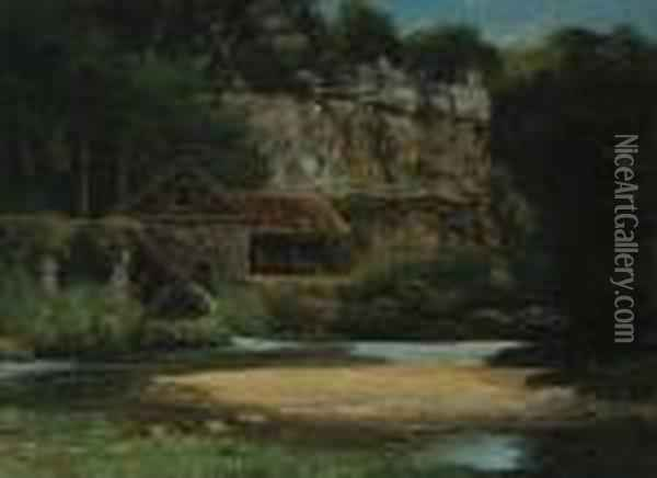 Le Moulin Oil Painting - Gustave Courbet