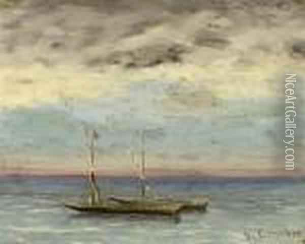 La Mer Oil Painting - Gustave Courbet