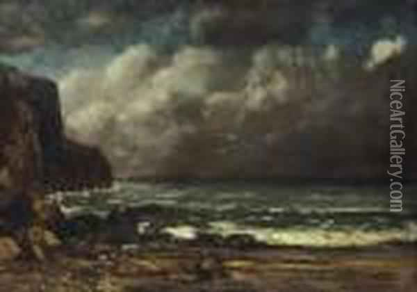 La Greve Oil Painting - Gustave Courbet