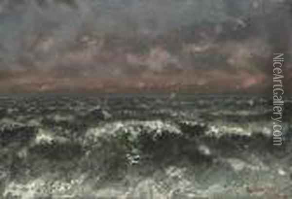 Marine Oil Painting - Gustave Courbet