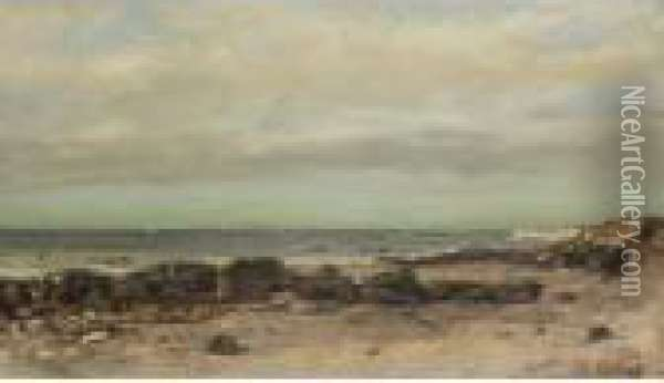 A Rocky Seascape Bears Oil Painting - Gustave Courbet