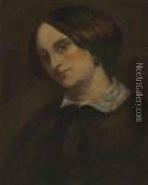 Portrait Of Mathilde Cuoq Oil Painting - Gustave Courbet