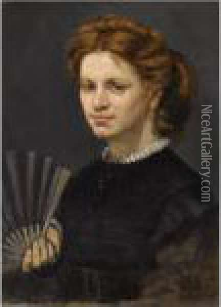 Madame Ernest Meja Oil Painting - Gustave Courbet