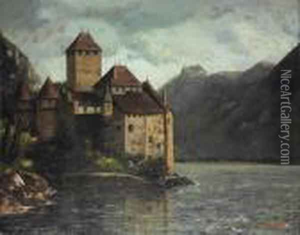 Le Chateau De Chillon Oil Painting - Gustave Courbet
