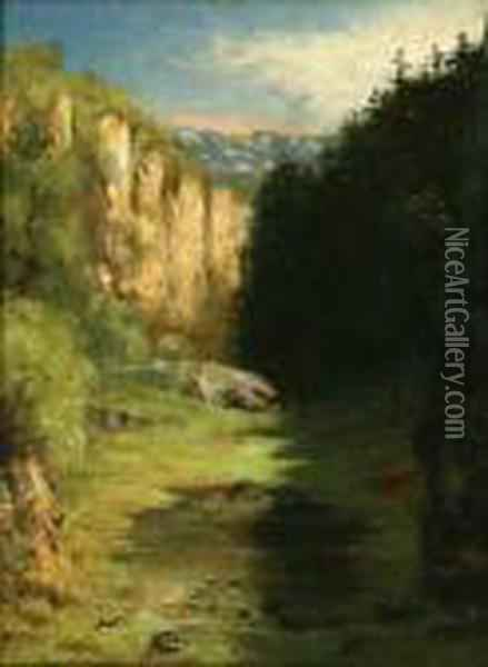 Landscape Of Jura Oil Painting - Gustave Courbet