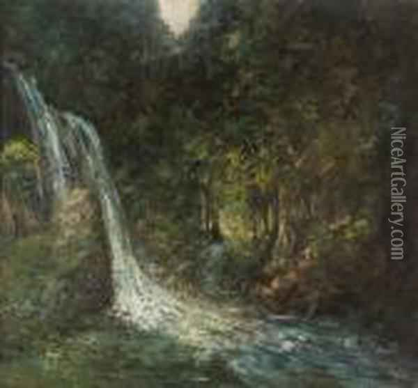Onhe Titel Oil Painting - Gustave Courbet