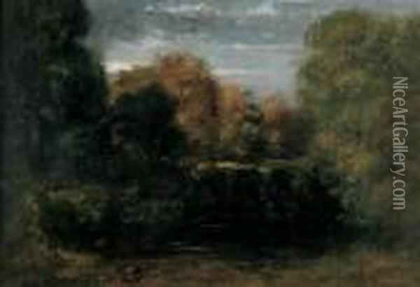Paysage,fontainebleau Oil Painting - Gustave Courbet