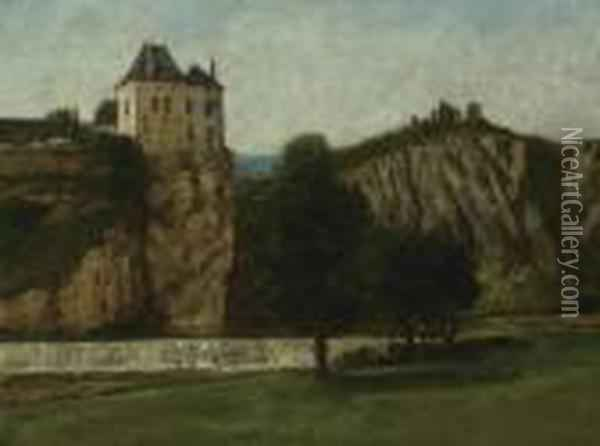 Le Chateau De Thoraise Oil Painting - Gustave Courbet