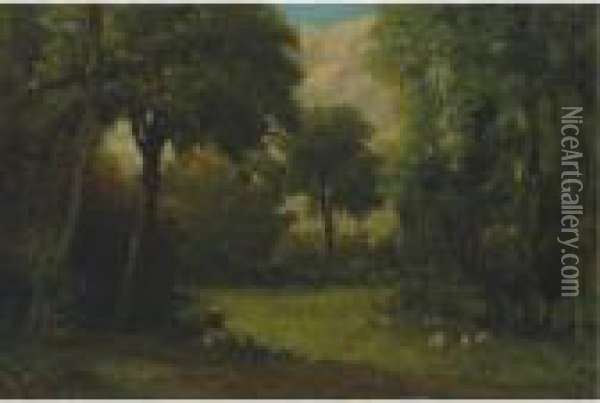 La Clairiere Oil Painting - Gustave Courbet