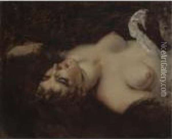 Femme Nue Oil Painting - Gustave Courbet