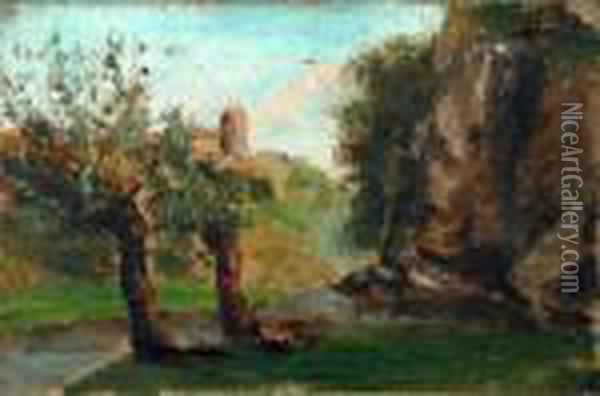 Ohne Titel Oil Painting - Gustave Courbet