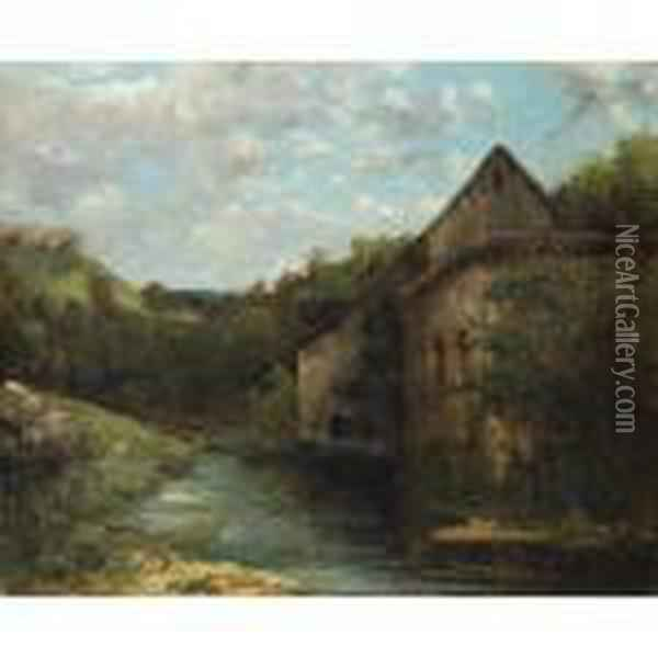 Adieu Au Jura [ ; Goodbye To Jura ; Oil On Canvas ; Signed Lower Left G.courbet] Oil Painting - Gustave Courbet