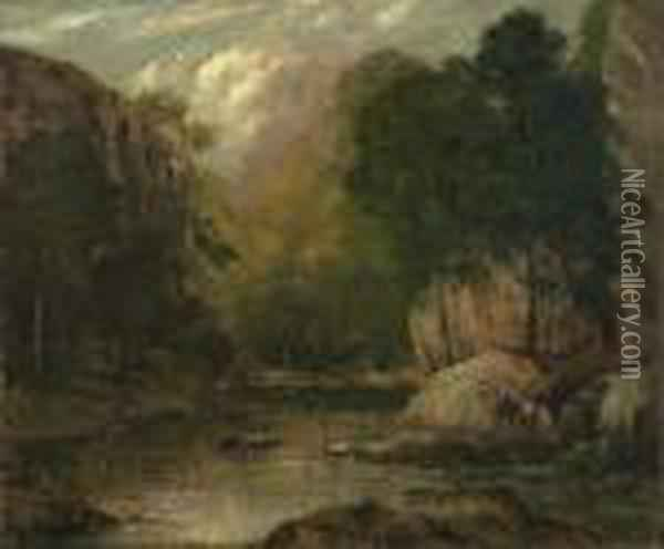 Waldbach Im Jura. Oil Painting - Gustave Courbet
