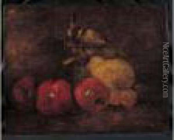Nature Morte Aux Fruits Oil Painting - Gustave Courbet