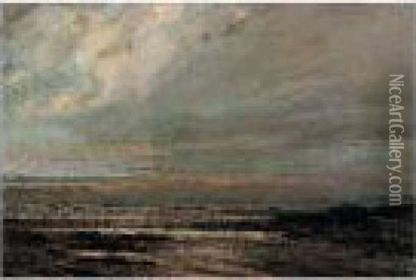 Marine A Deauville Oil Painting - Gustave Courbet