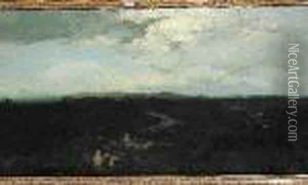Paysage Nocturne Oil Painting - Gustave Courbet