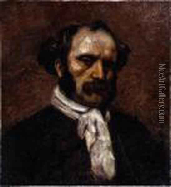 Monsieur Van Laethem Oil Painting - Gustave Courbet