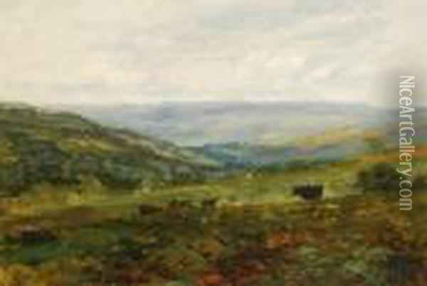 From The High Road To Bardon Looking Towardsbolton Bridge Oil Painting - David Cox