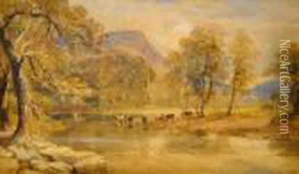 On The Conway Oil Painting - David Cox