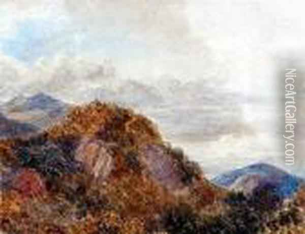 Possibly The Moelwyns Oil Painting - David Cox