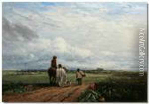Going To The Hayfield Oil Painting - David Cox
