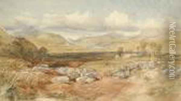 A Country Landscape Oil Painting - David Cox