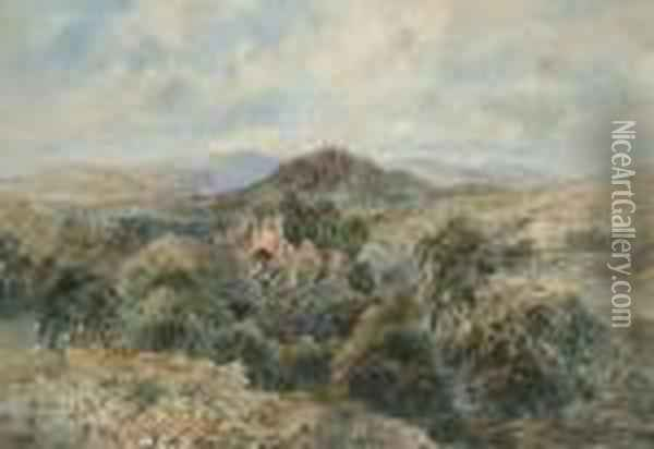 Tintern Abbey Oil Painting - David Cox