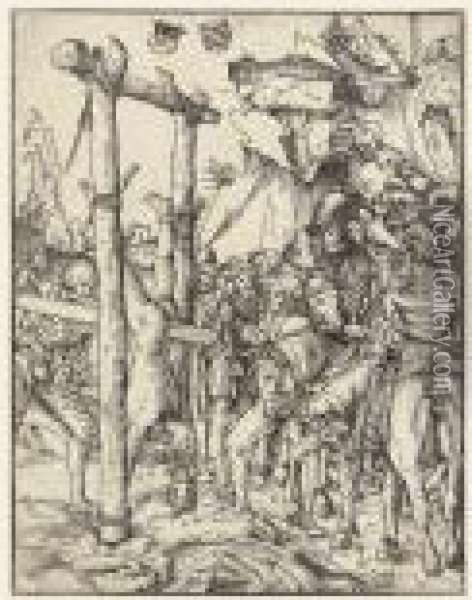 The Martyrdom Of The Apostles Oil Painting - Lucas The Elder Cranach