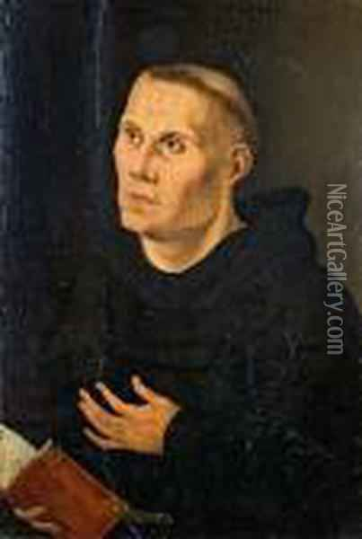 Martin Luther Als Monch Oil Painting - Lucas The Elder Cranach