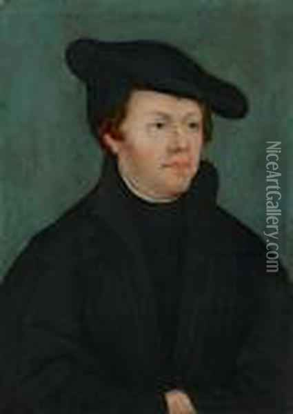 Martin Luther Und Katharina Von Bora Oil Painting - Lucas The Elder Cranach