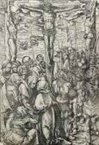 Thecrucifixion; The Lamentation Oil Painting - Lucas The Elder Cranach