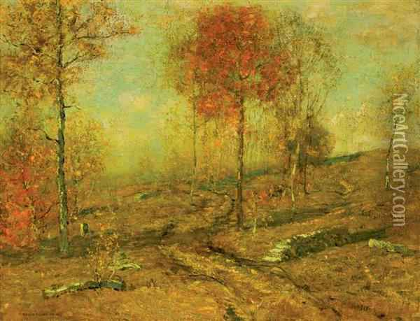 Autumn Oil Painting - Bruce Crane
