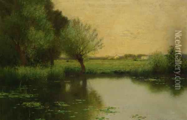 Summer Day Oil Painting - Bruce Crane