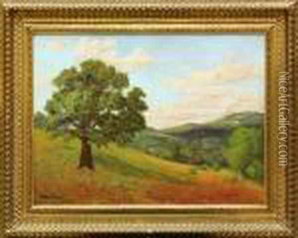 Landscape With Tree Oil Painting - Bruce Crane
