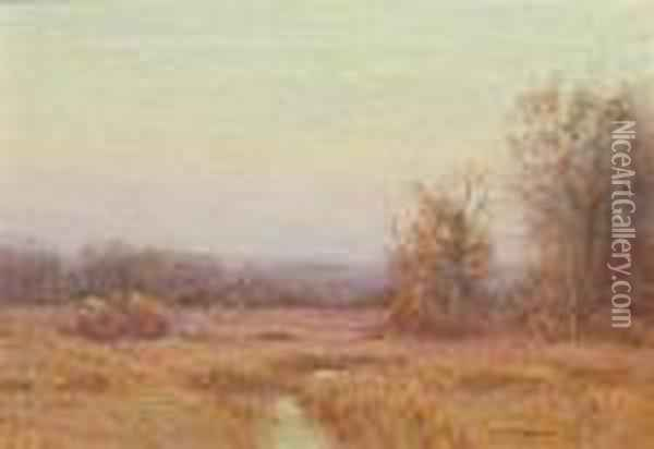 Early November Morning Oil Painting - Bruce Crane