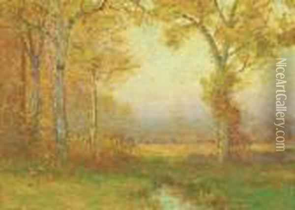 Autumn Morning Oil Painting - Bruce Crane