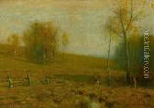 Late Autumn Oil Painting - Bruce Crane