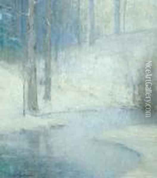 Winter Oil Painting - Bruce Crane
